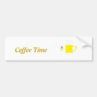 Café de la camiseta y torta de la taza etiqueta de parachoque