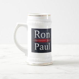 Café de la campaña de Ron Paul 2012/taza de té Jarra De Cerveza