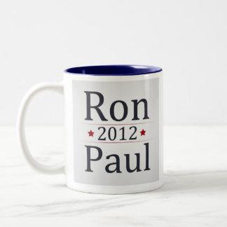 Café de la campaña de Ron Paul 2012/taza de té Taza De Dos Tonos