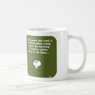 Café de la conversación de la madrugada del vimrod taza básica blanca