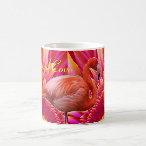 Café de la ensenada del flamenco/taza del té taza de café