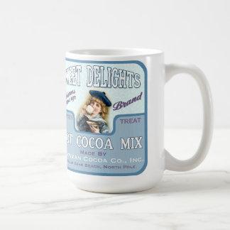Café de la etiqueta del chocolate del cacao del vi tazas de café