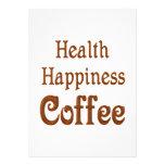 Café de la felicidad de la salud comunicados personales