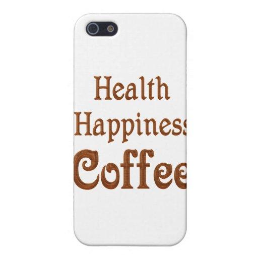 Café de la felicidad de la salud iPhone 5 cárcasa