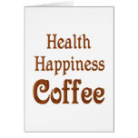 Café de la felicidad de la salud tarjeta