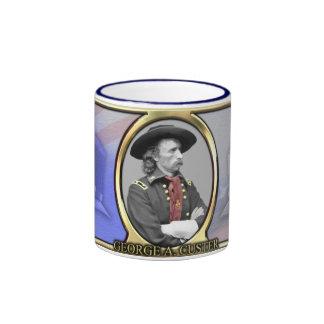 Café de la guerra civil de George A. Custer Taza De Dos Colores
