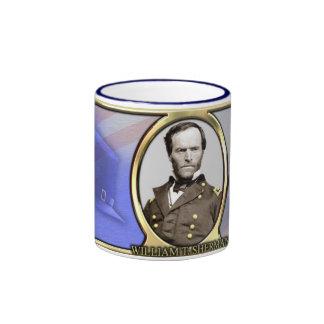 Café de la guerra civil de Guillermo T. Sherman Taza De Dos Colores