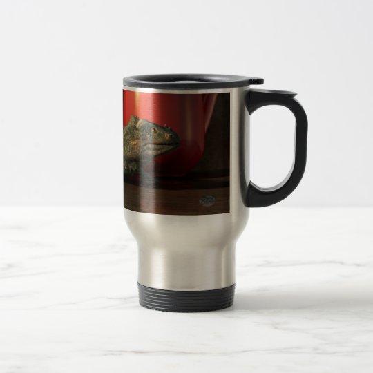 Café de la iguana taza de viaje