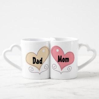 Café de la mamá y del papá tazas para parejas