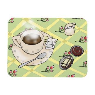 Café de la mañana imán de vinilo