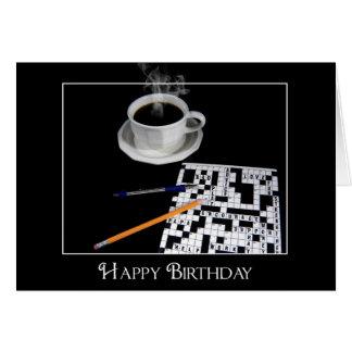 Café de la mañana tarjeta de felicitación