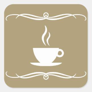café de la MOD Pegatina Cuadrada