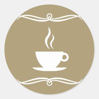 café de la MOD Pegatina Redonda