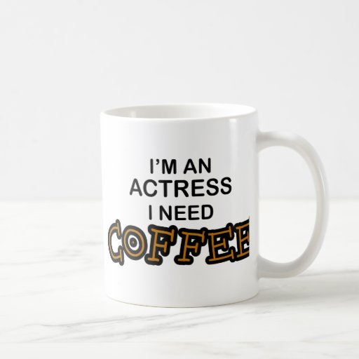 Café de la necesidad - actriz taza básica blanca