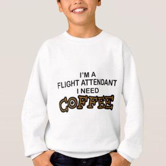 Café de la necesidad - asistente de vuelo sudadera