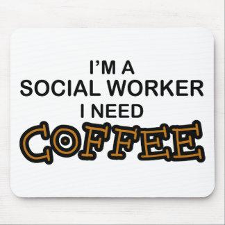 Café de la necesidad - asistente social mouse pad