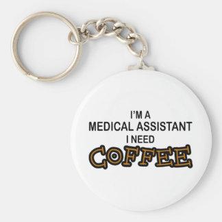 Café de la necesidad - Assisant médico Llavero Redondo Tipo Pin