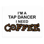 Café de la necesidad - bailarín de golpecito postales