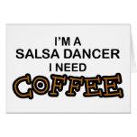 Café de la necesidad - bailarín de la salsa tarjeton