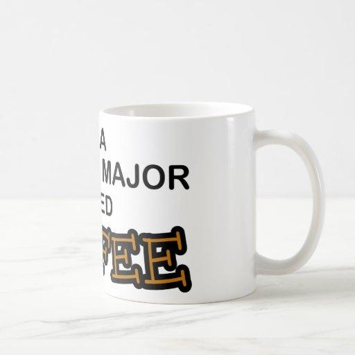 Café de la necesidad - comandante de la ciencia taza de café