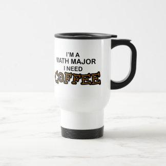 Café de la necesidad - comandante de matemáticas taza de viaje de acero inoxidable