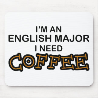 Café de la necesidad - comandante inglés alfombrillas de ratón