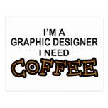 Café de la necesidad - diseñador gráfico postal