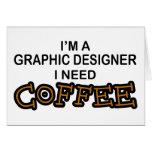 Café de la necesidad - diseñador gráfico felicitacion