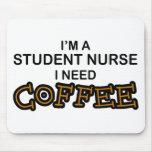 Café de la necesidad - enfermera de estudiante alfombrillas de ratones