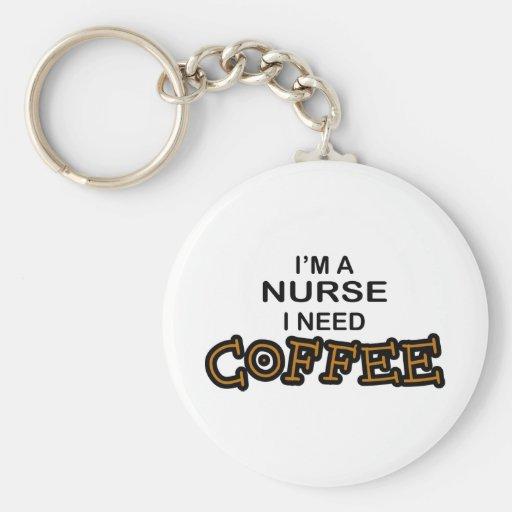Café de la necesidad - enfermera llavero redondo tipo pin