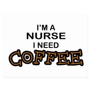 Café de la necesidad - enfermera tarjeta postal
