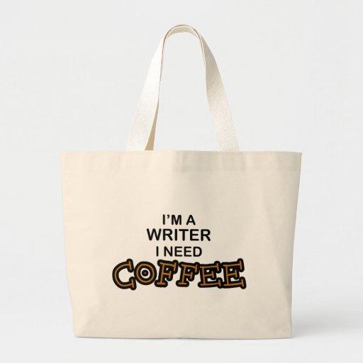 Café de la necesidad - escritor bolsa