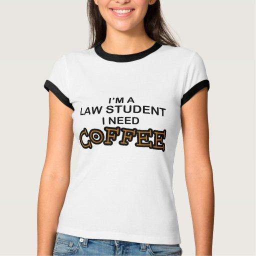 Café de la necesidad - estudiante de Derecho Poleras