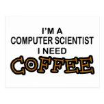 Café de la necesidad - informático tarjeta postal