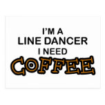 Café de la necesidad - línea bailarín tarjeta postal