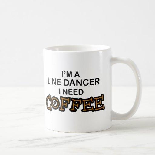 Café de la necesidad - línea bailarín tazas de café