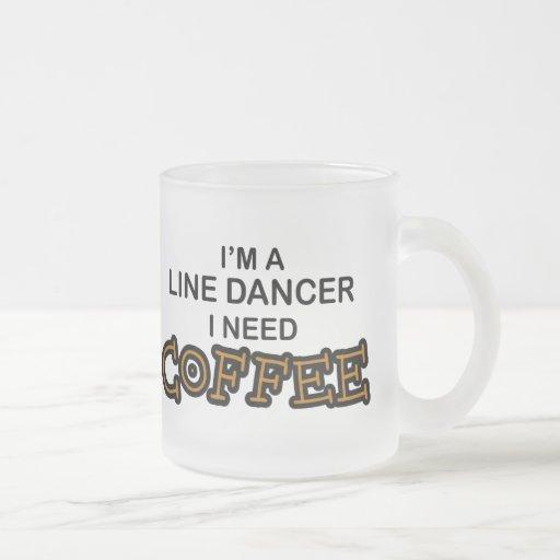Café de la necesidad - línea bailarín taza de cristal