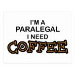 Café de la necesidad - Paralegal Tarjetas Postales