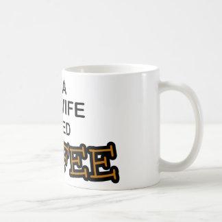 Café de la necesidad - partera taza básica blanca