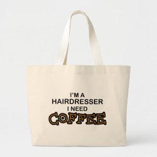 Café de la necesidad - peluquero bolsa tela grande