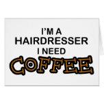 Café de la necesidad - peluquero tarjeta
