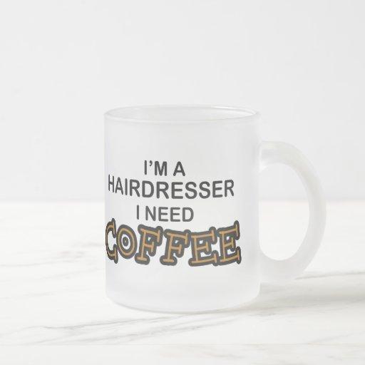 Café de la necesidad - peluquero taza