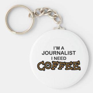 Café de la necesidad - periodista llavero redondo tipo pin