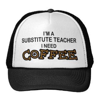 Café de la necesidad - profesor sustituto gorros