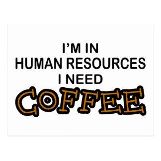 Café de la necesidad - recursos humanos tarjeta postal
