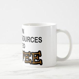 Café de la necesidad - recursos humanos taza de café