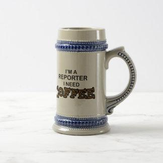 Café de la necesidad - reportero jarra de cerveza
