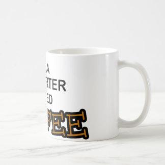 Café de la necesidad - reportero tazas de café