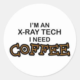 Café de la necesidad - tecnología de la pegatina redonda