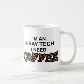 Café de la necesidad - tecnología de la radiografí taza básica blanca
